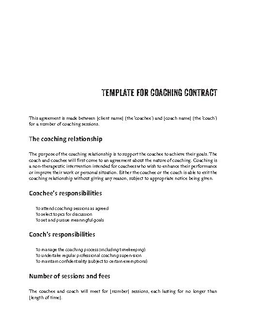 Life Coaching Contract Template Pdfsimpli