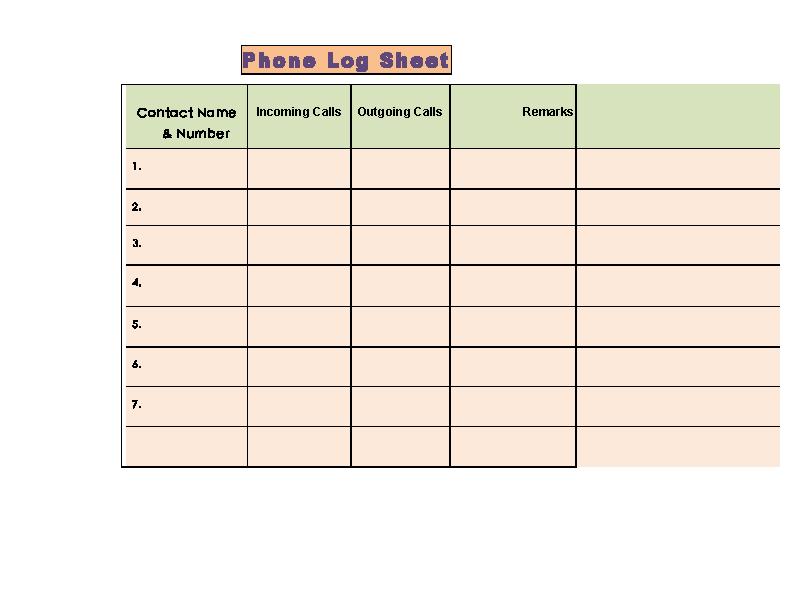 Mac Phone Call Log Template Free - PDFSimpli