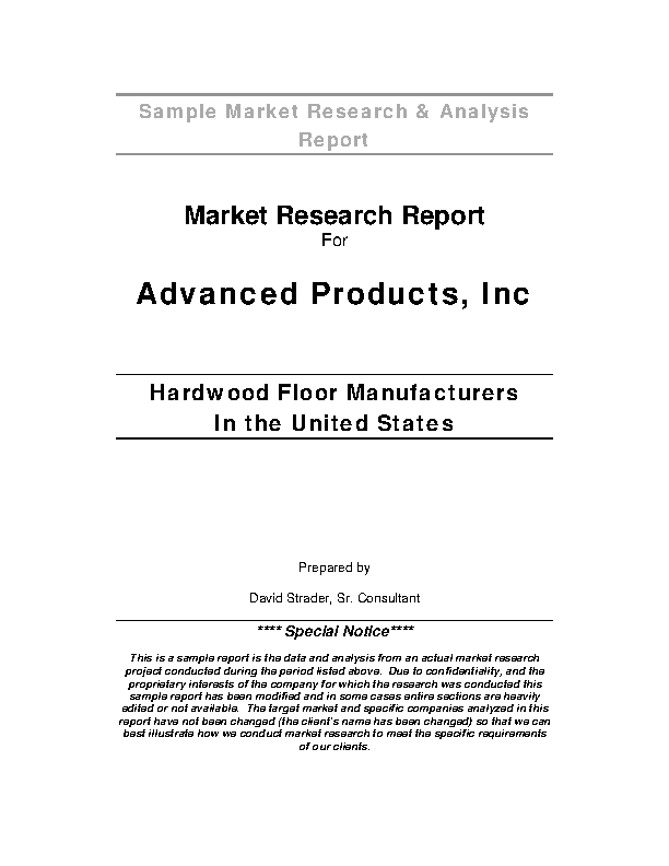 Market Research And Analysis Report