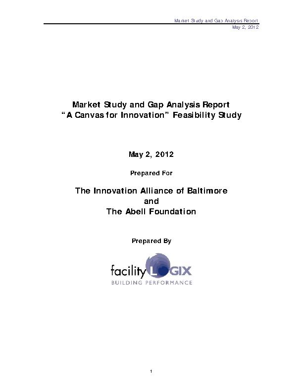 Market Study And Gap Analysis Report