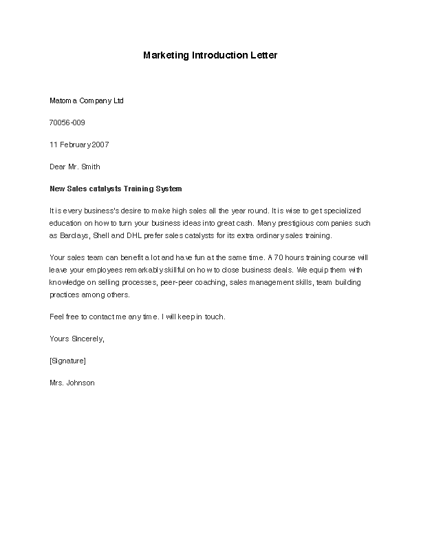 Fill Out Your Marketing Introduction Letter In Seconds With PDFSimpli