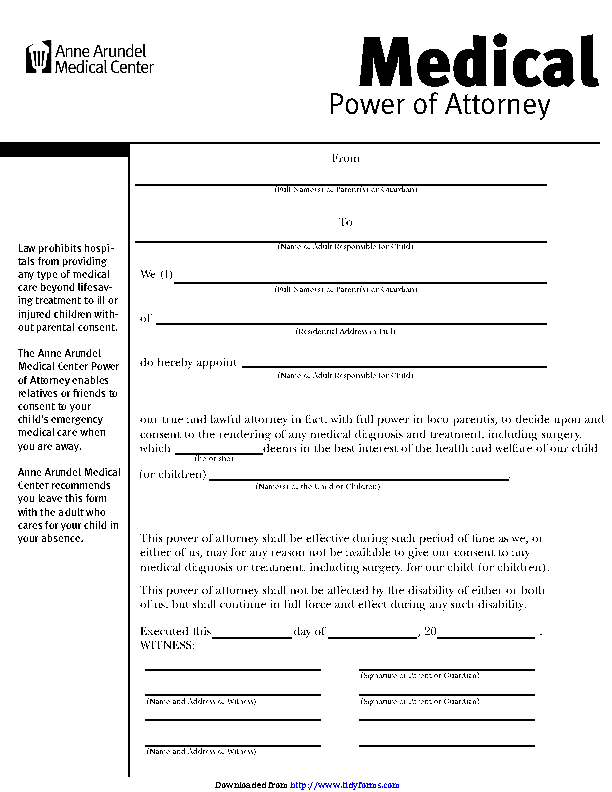 It's just a photo of Printable Power of Attorney Form with georgia