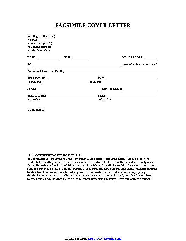 Medical Hipaa Fax Cover Sheet - PDFSimpli