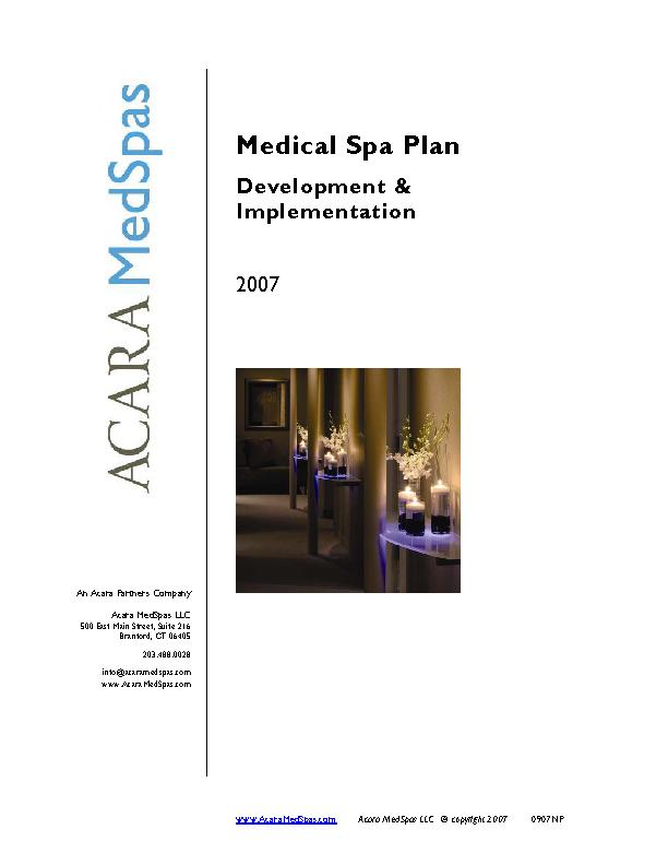 Medical Spa Business Plan - PDFSimpli