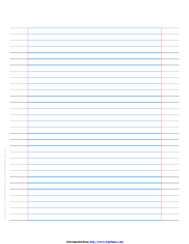Medium Ruled Filler Paper 7 1 Mm