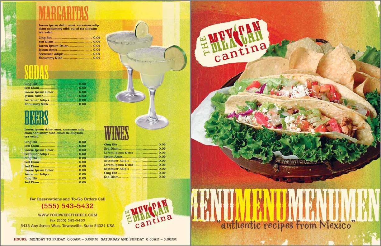 Mexican Restaurant Menu