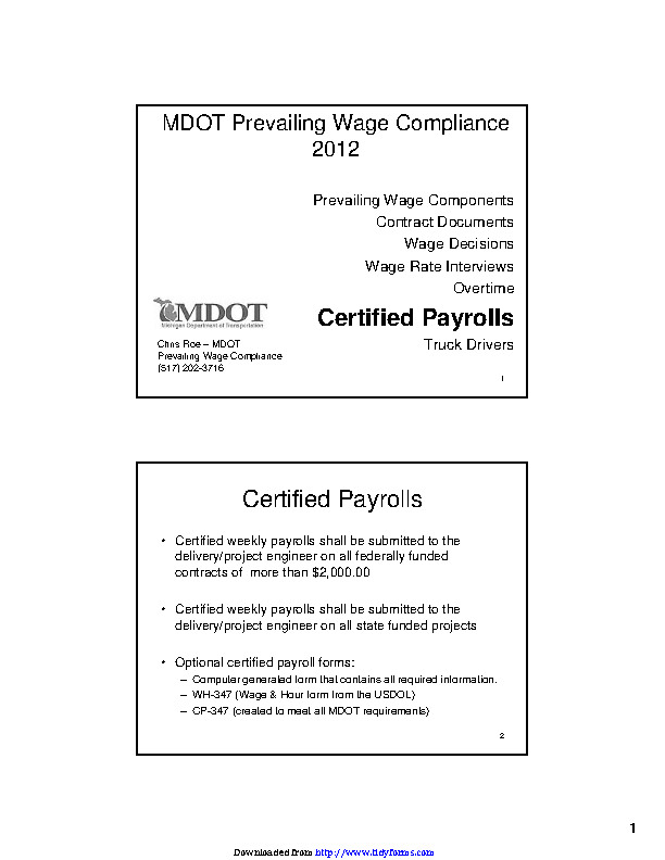 Michigan Certified Payroll Review