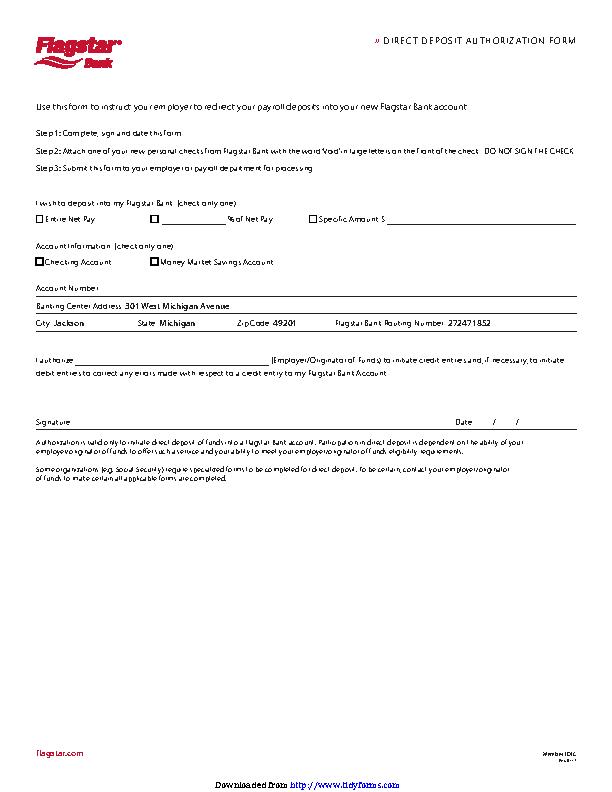 Michigan Direct Deposit Form 2 - PDFSimpli