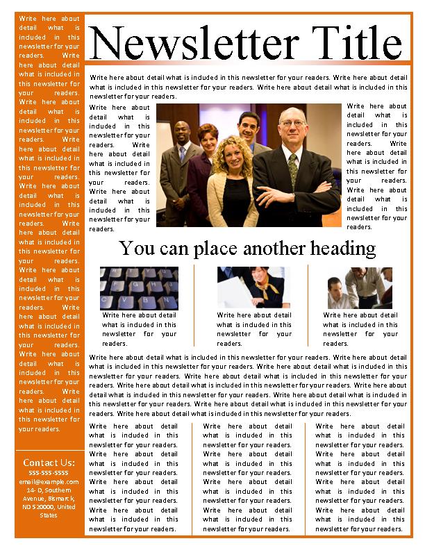 Microsoft Business Newsletter Template Free Download Pdfsimpli