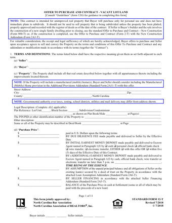 NC Offer to Purchase and Contract 2-T PDF