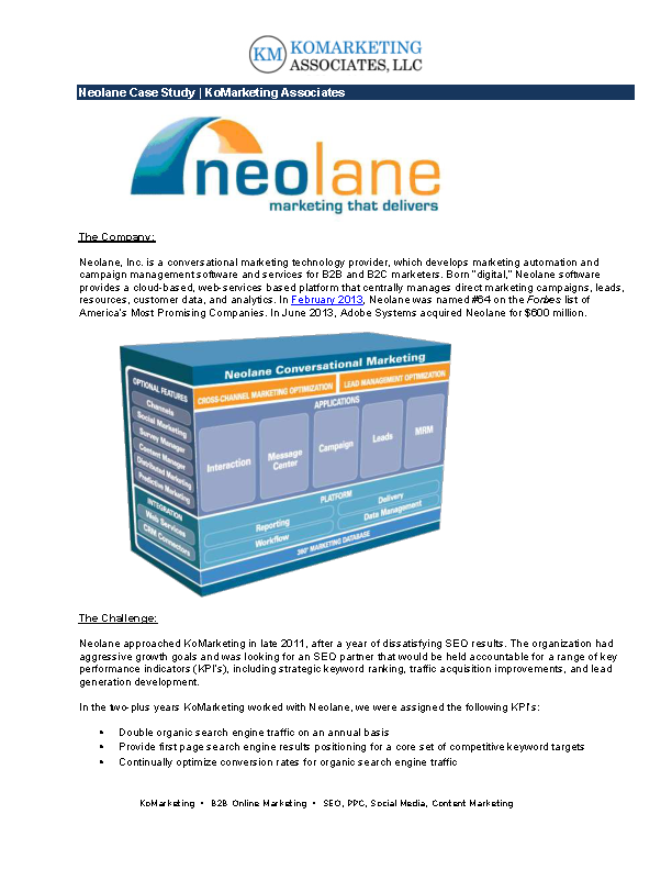Neolane Marketing Case Study