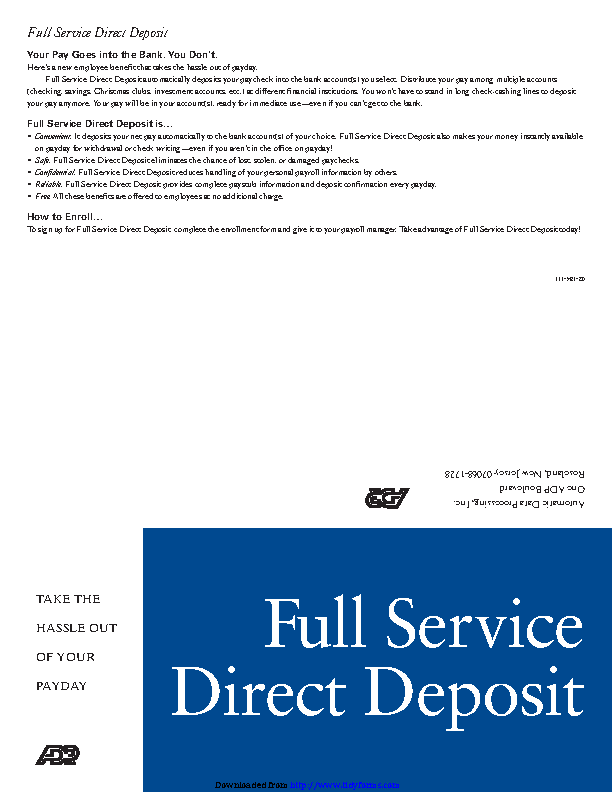 New Jersey Direct Deposit Form 1