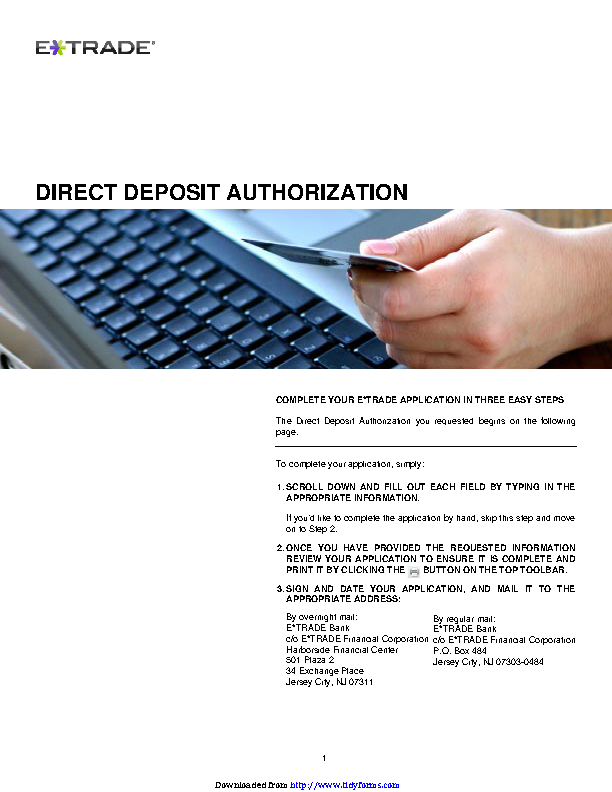 New Jersey Direct Deposit Form 2