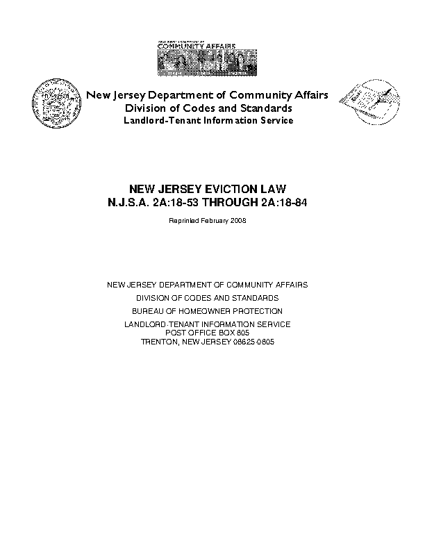 New Jersey Eviction Laws