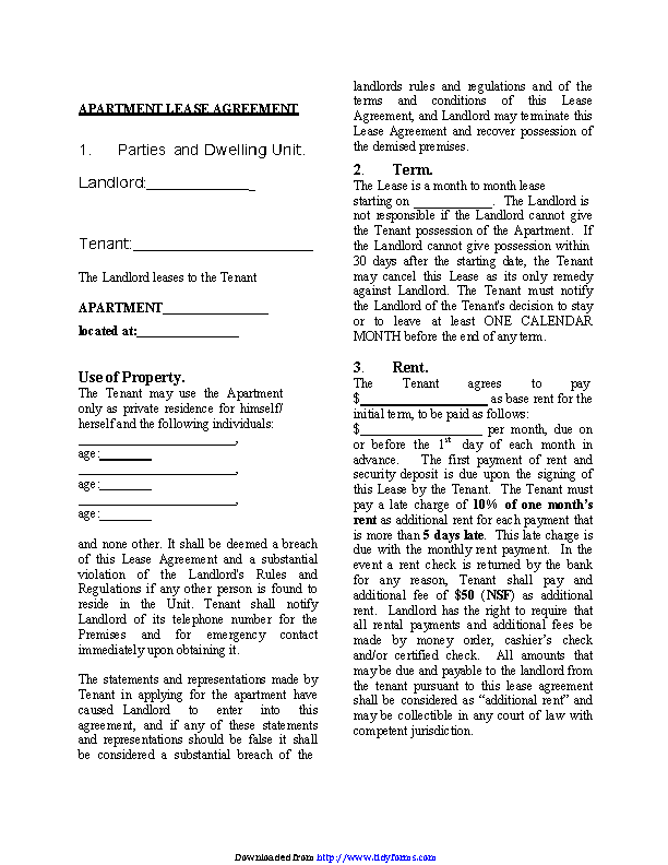 New Jersey Month To Month Rental Agreement Form Pdfsimpli
