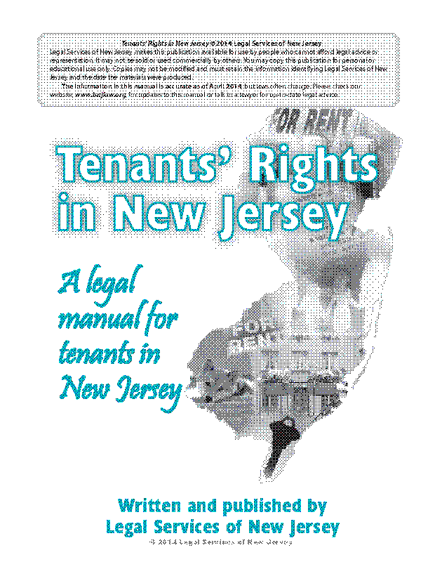 New Jersey Tenants Rights Handbook