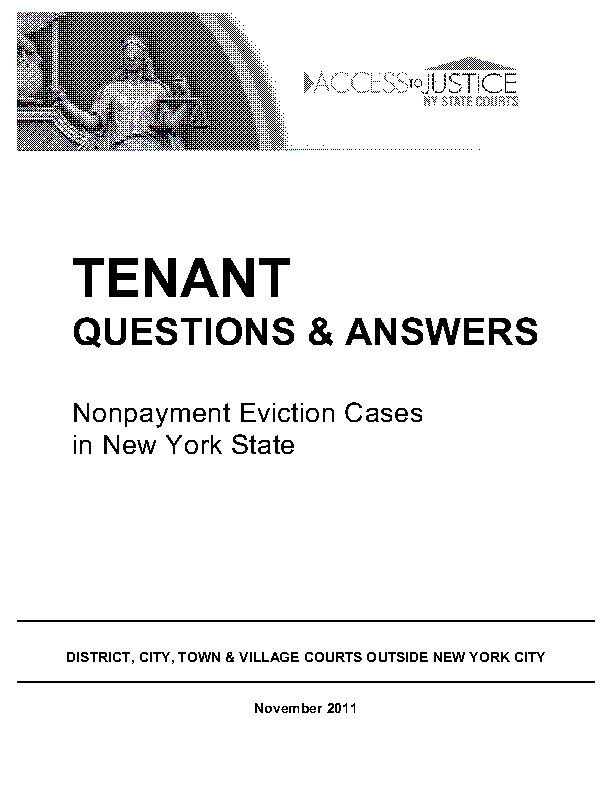 New York Guide To Nonpayment Cases