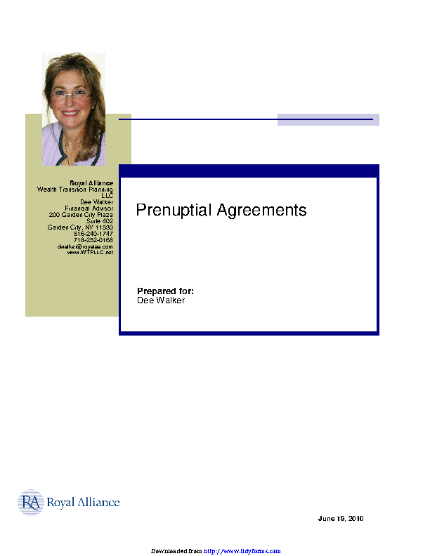 New York Prenuptial Agreement Sample Pdfsimpli
