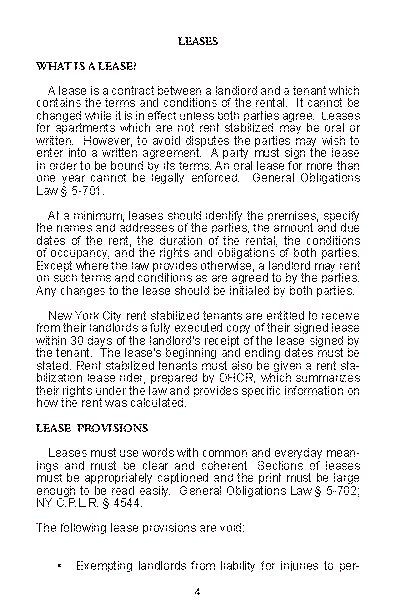 New York Tenants Rights Guide Page 4