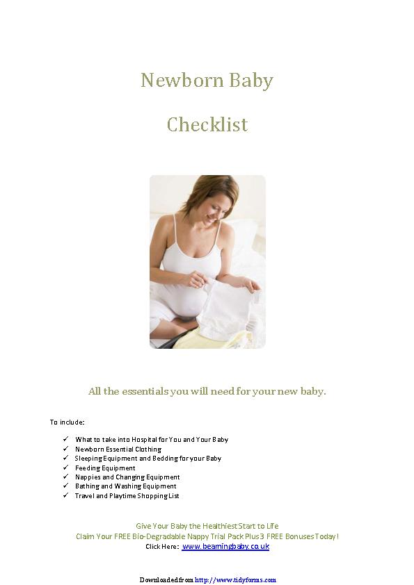 Newborn Checklist 4