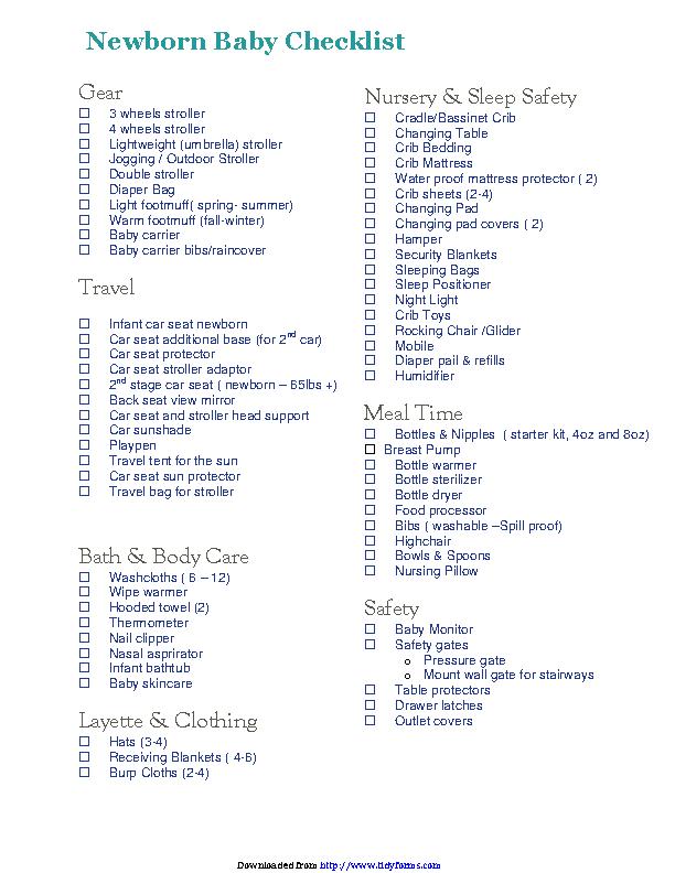Newborn Checklist 5