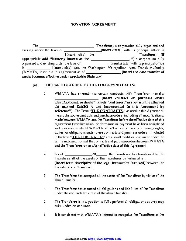 Novation Agreement 1