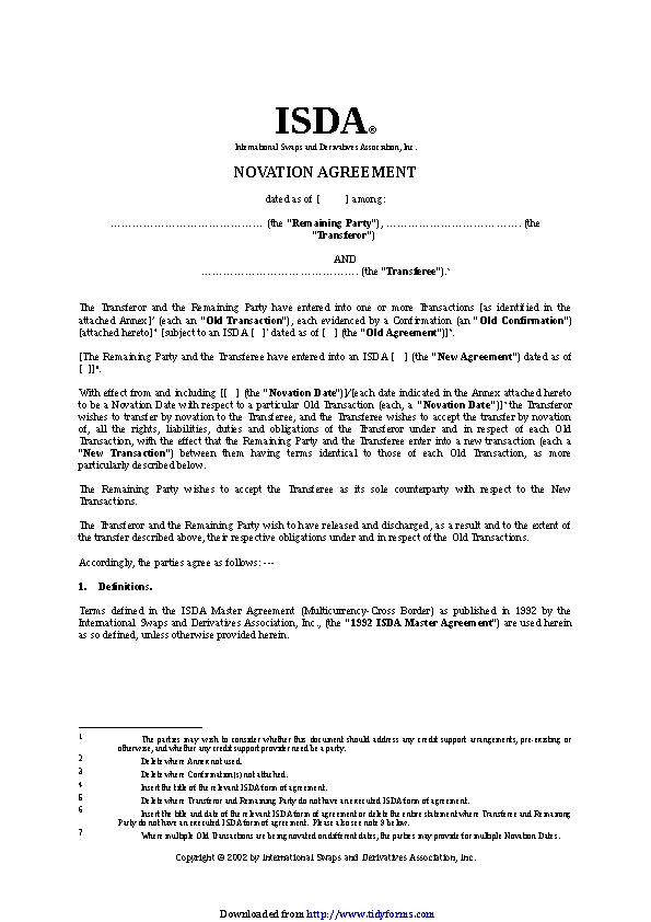 Novation Agreement 3