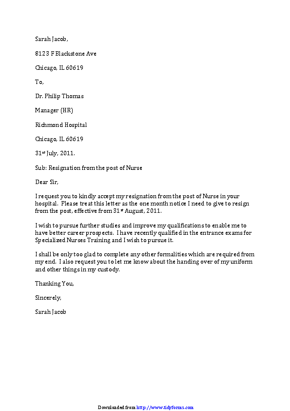 Rn Resignation Letter Examples from devlegalsimpli.blob.core.windows.net
