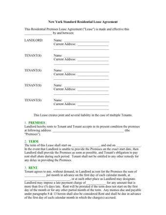 NY Lease Agreement PDF