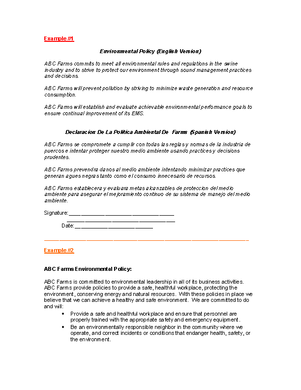 Office Environmental Policy Template