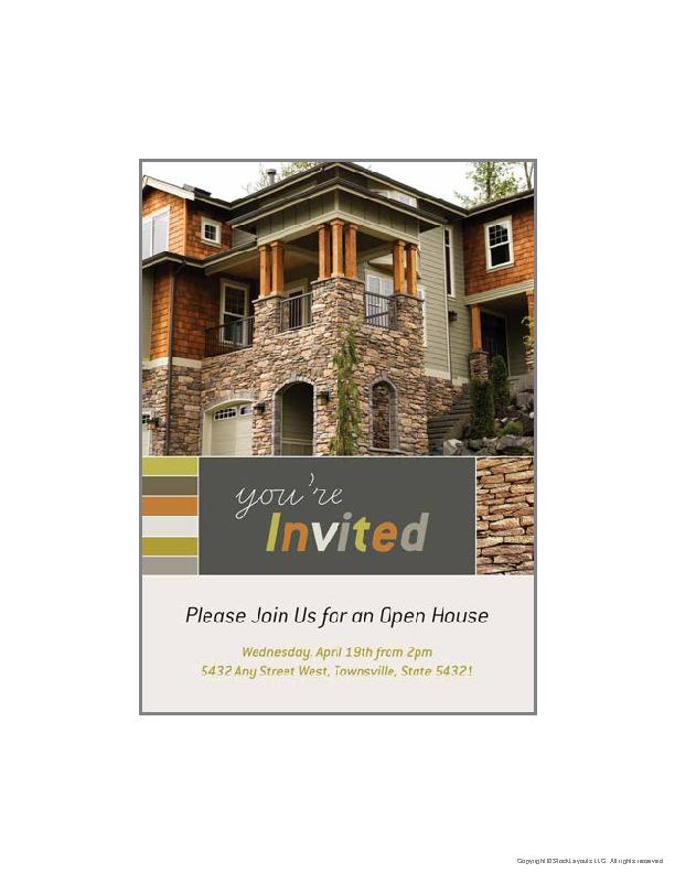 Open House Invitation In Microsoft Publisher Free