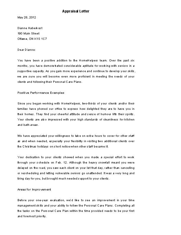 Performance Evaluation Letter Sample from devlegalsimpli.blob.core.windows.net