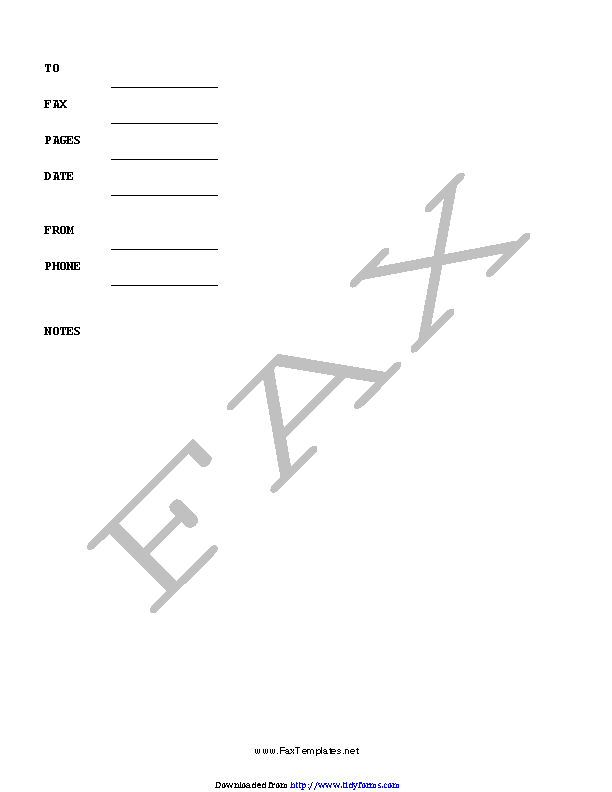 Personal Fax Cover Sheet 1