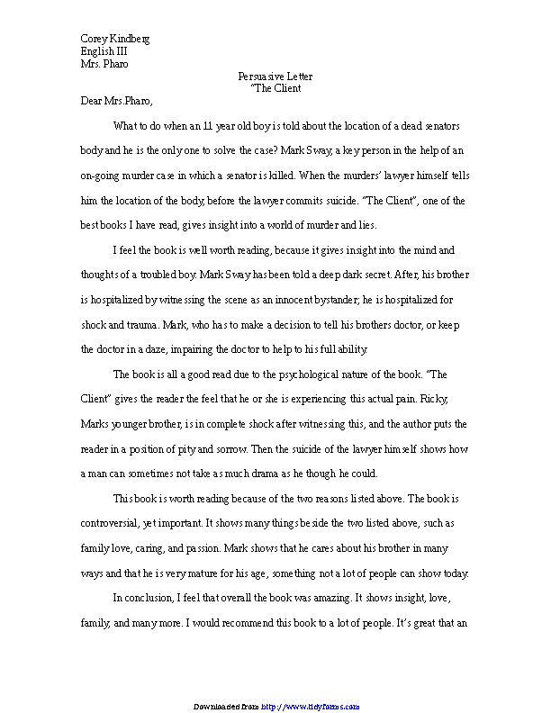 persuasive letter conclusion