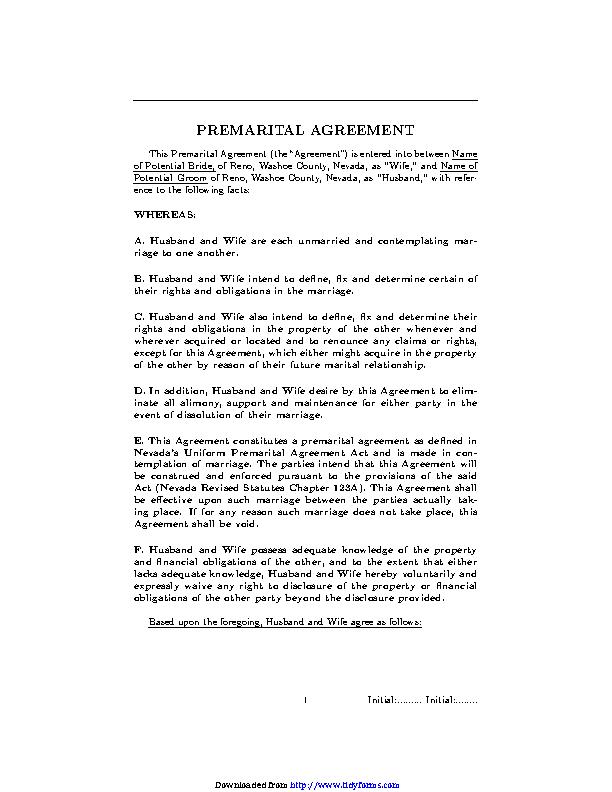 Prenuptial Agreement 2
