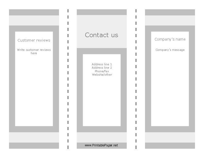 graphic regarding Word Fill in Printable named Printable Blank Brochure Template Absolutely free Phrase - PDFSimpli