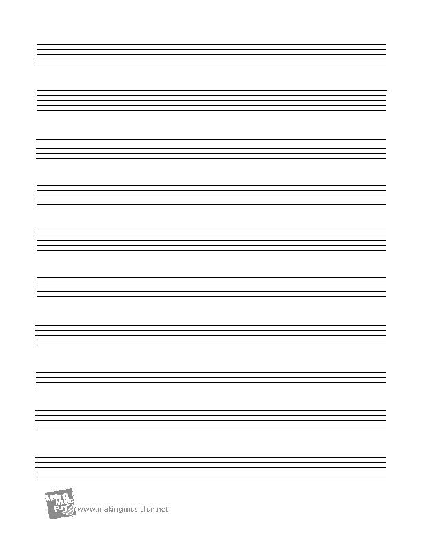Printable Blank Staff Paper