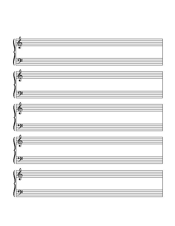 Printable Grand Staff Paper