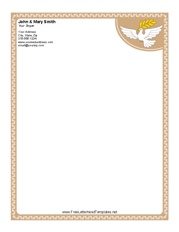 picture about Printable Dove Template identified as Printable Term Dove Letterhead Template For No cost - PDFSimpli