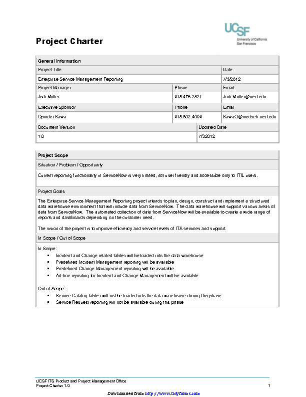 Project Charter Template 2 3
