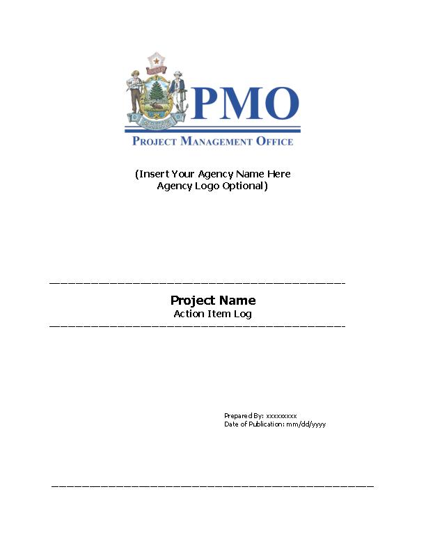 Project Management Action Log Template