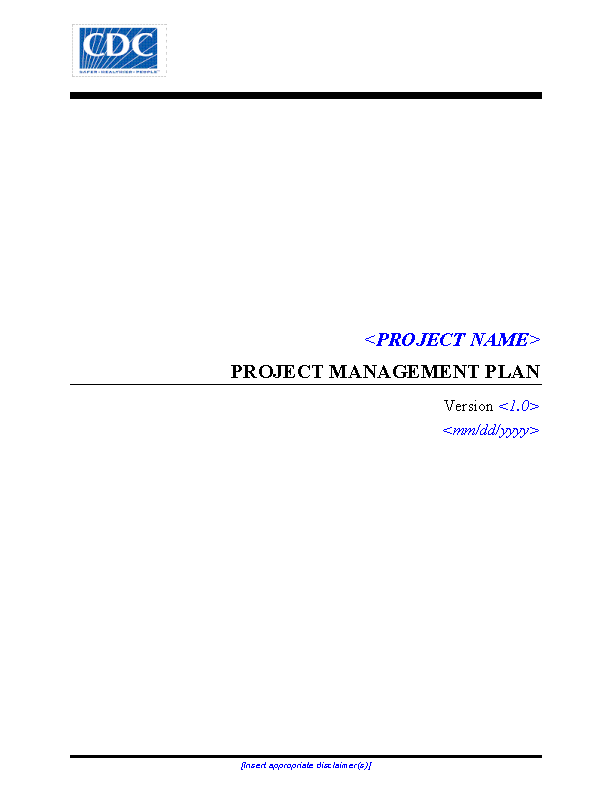 Project Management Time Schedule Template