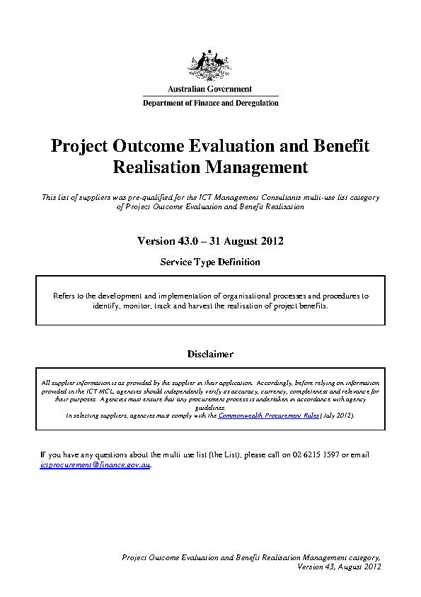Project Outcome Evaluati