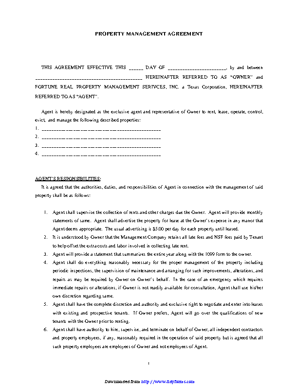 Property Management Agreement 2