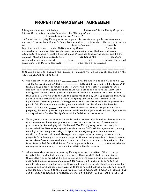 Property Management Agreement 3