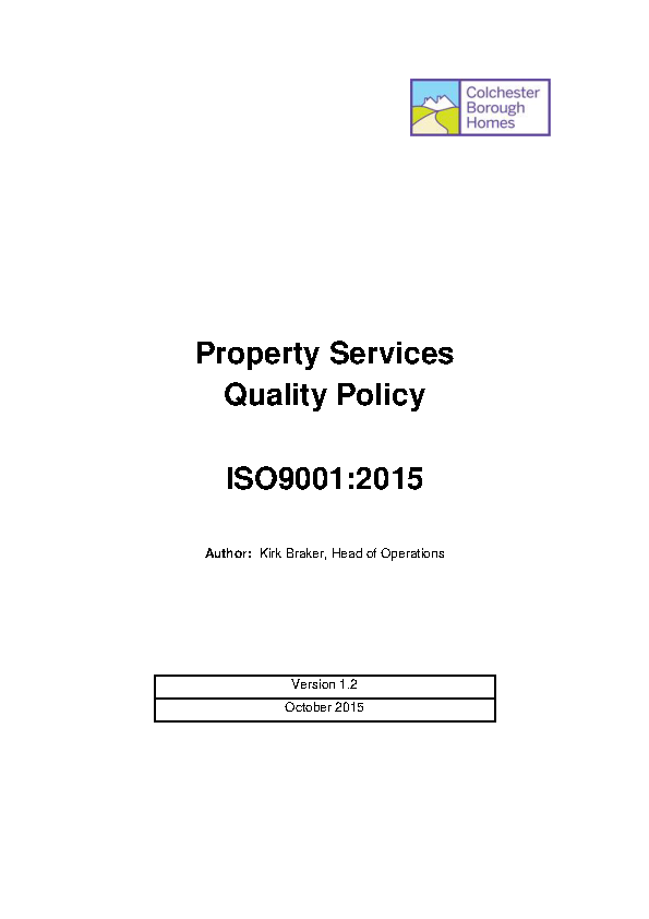 Property Services Quality Policy