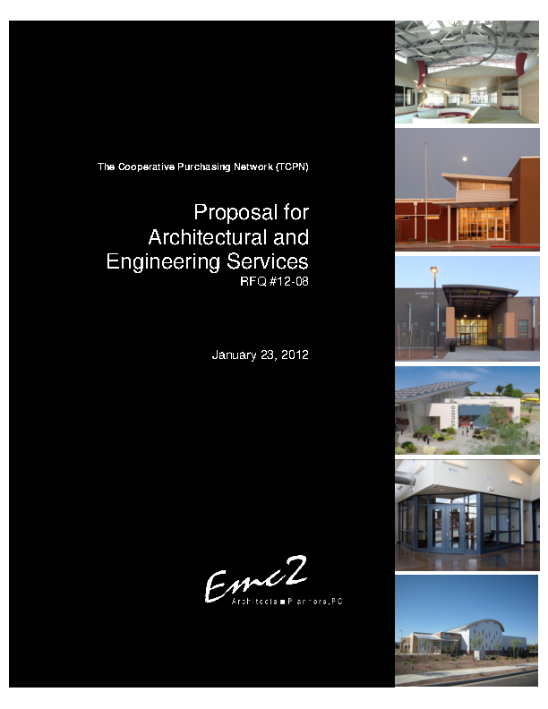 Proposal For Architectural And Engineering Services