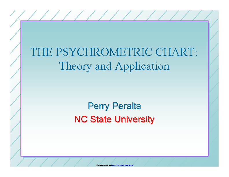 Psychrometric Chart Theory And Application