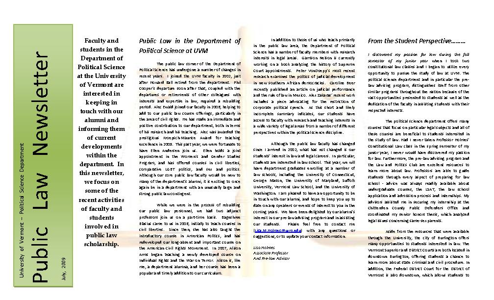Public Law Newsletter