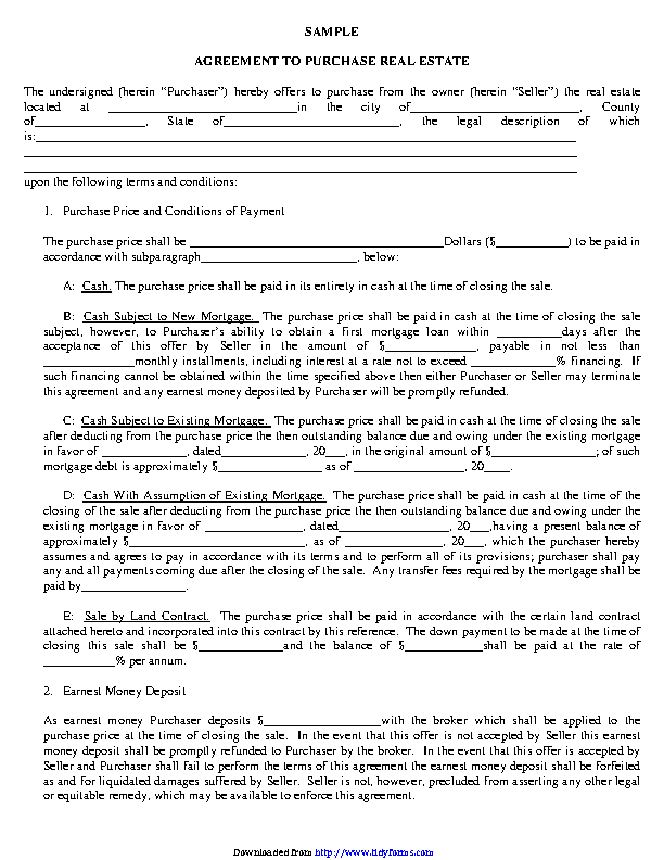 Purchase Agreement Template 1